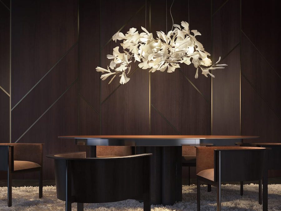 luxury handcrafted chandelier Gingko C 141