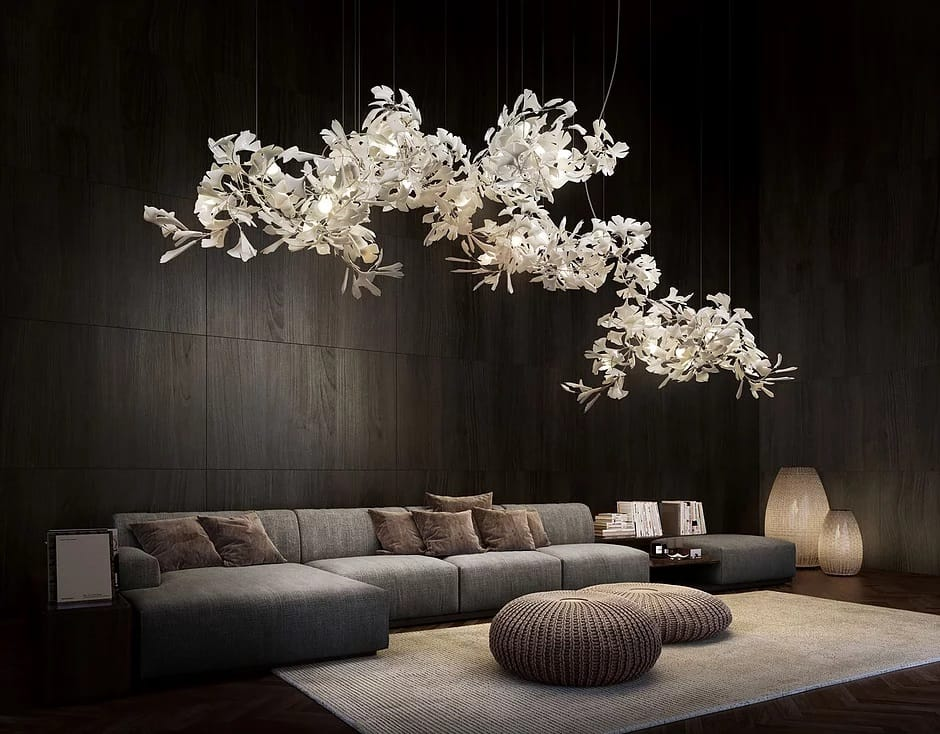 organic lighting sculptures for luxury homesGINKGO B 700