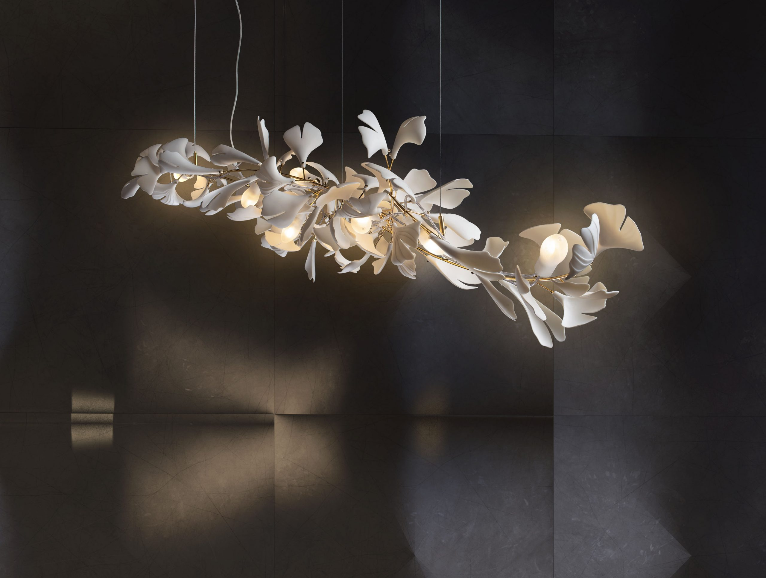 Bespoke Light sculpture Gingko 73
